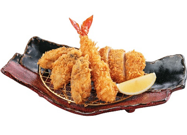 二牡蠣ふらいとヒレ膳