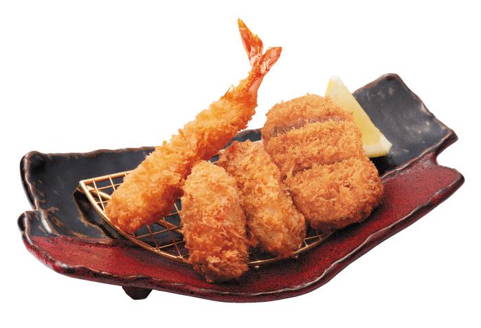 牡蠣ふらいとヒレ膳
