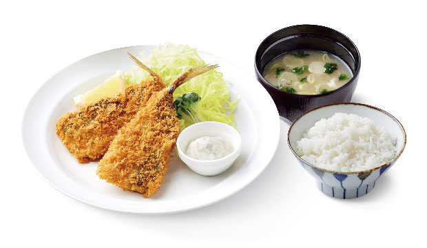 長崎アジフライ定食